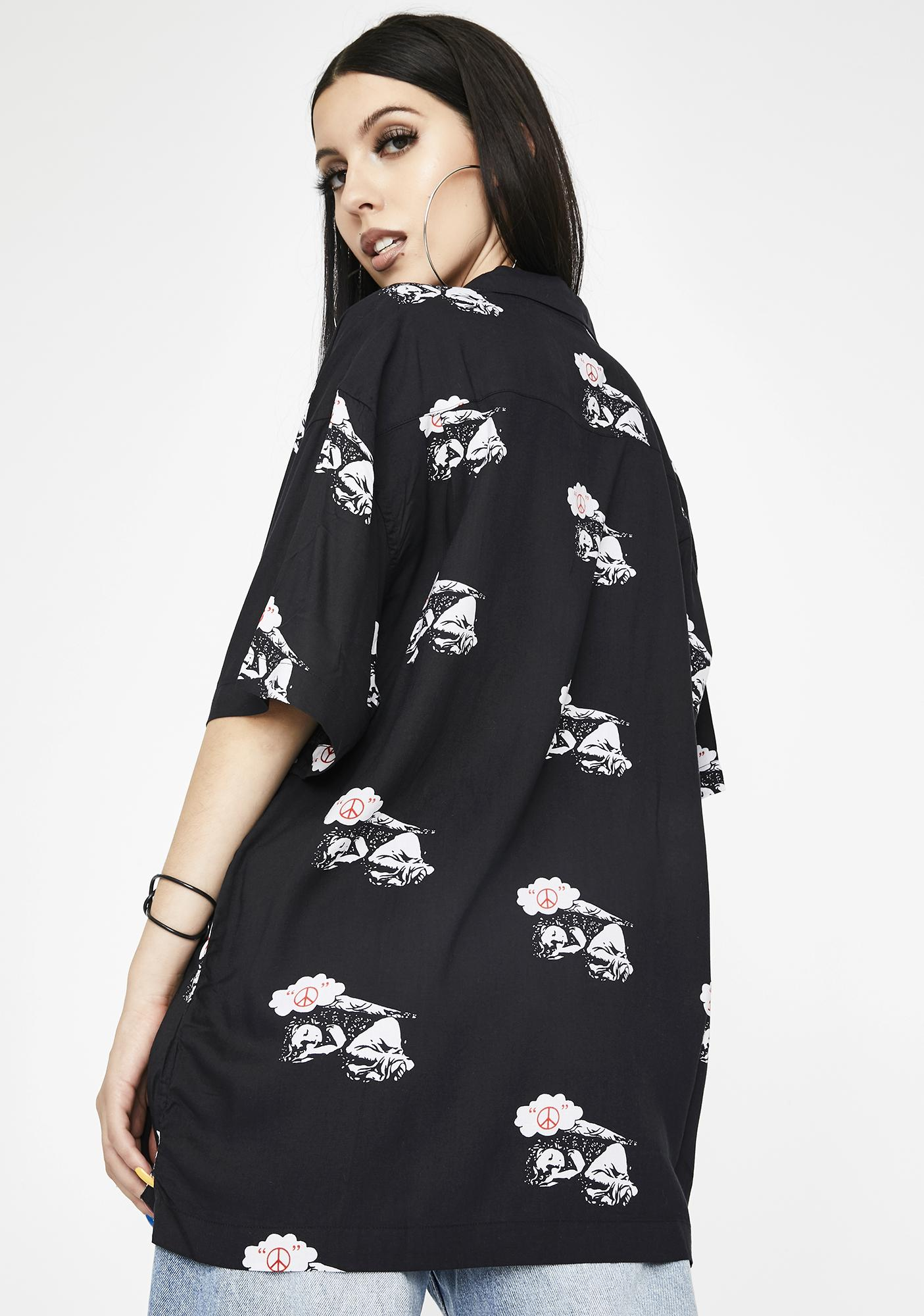 Obey Peace Angel Woven Shirt