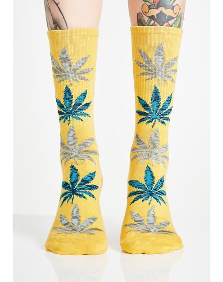 Melange Leave Crew Socks