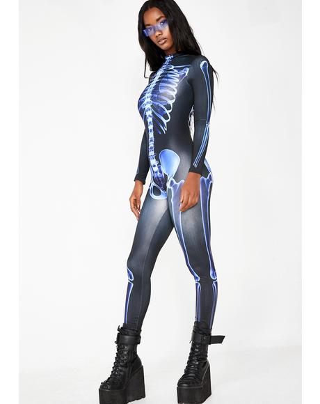 Wicked Acid Bones Skeleton Catsuit