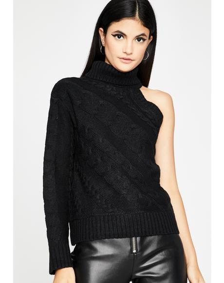 Noir Camera Shy Knit Sweater