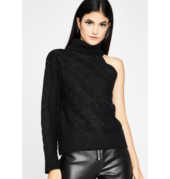 Noir Camera Shy Knit Sweater