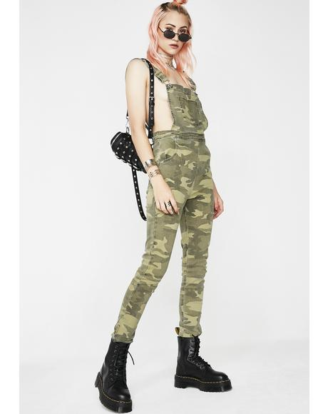 Hot Commodity Camo Overalls