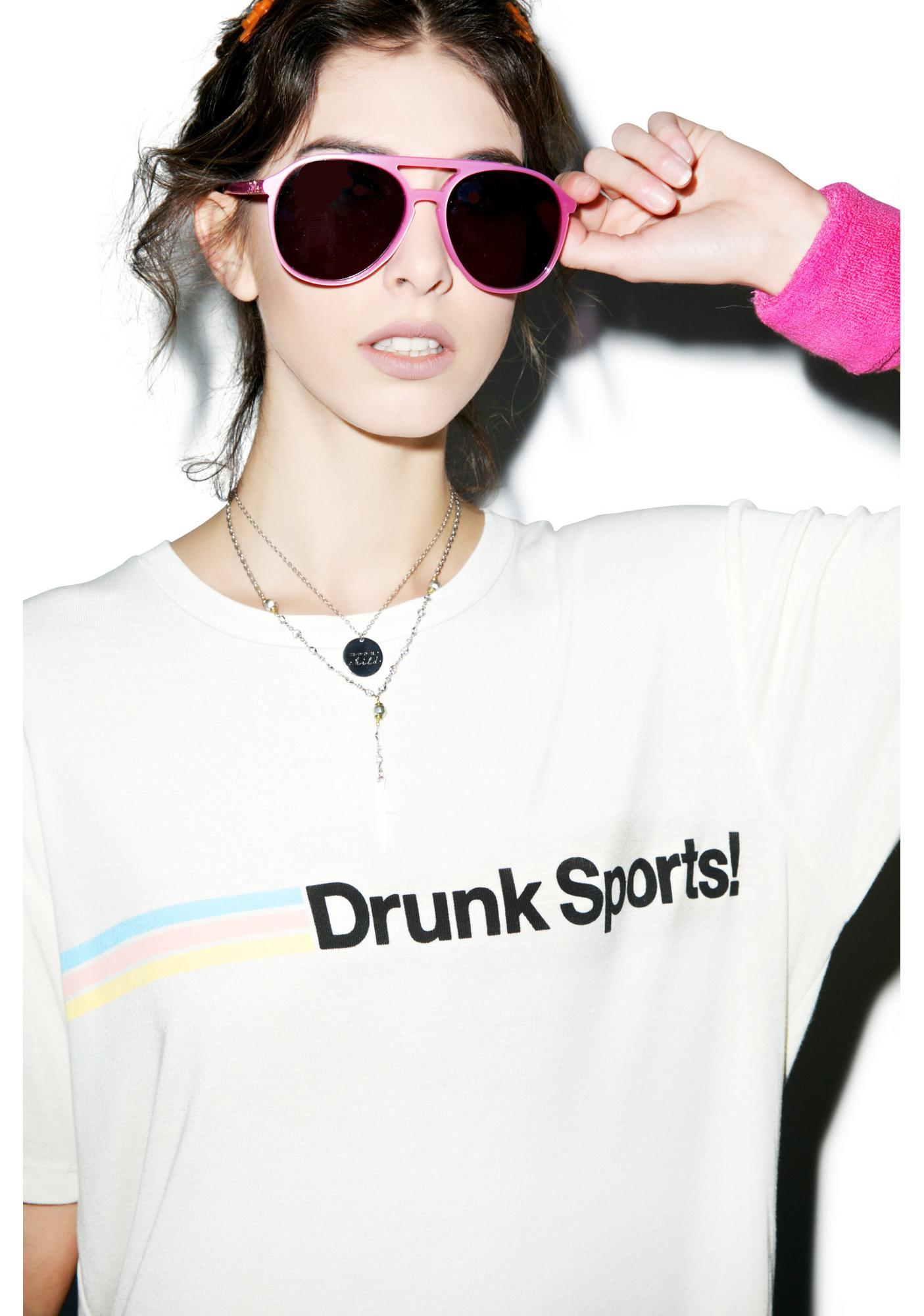 Wildfox Couture Drunk Sports Boyfriend Tee