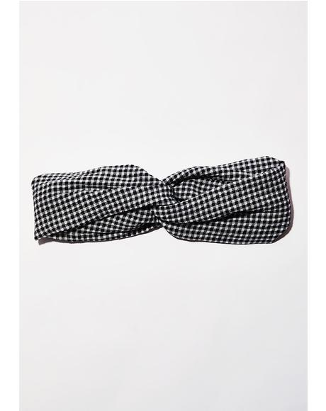 Always Crushing Gingham Headband