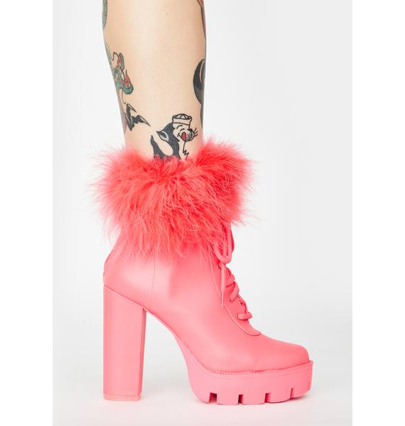 Only The Best Marabou Booties