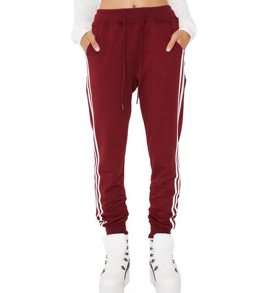 Game Time Striped Sweatpants