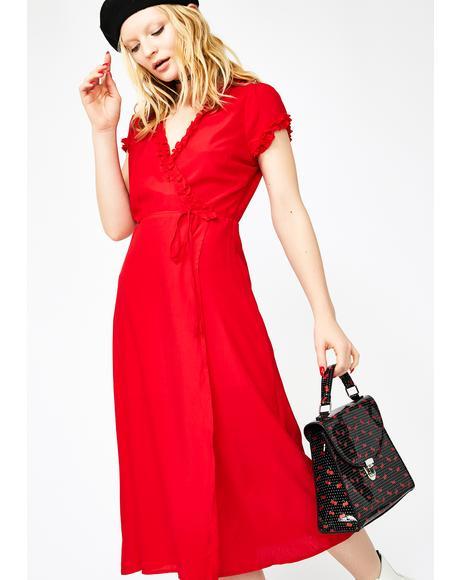Stop Traffic Midi Dress