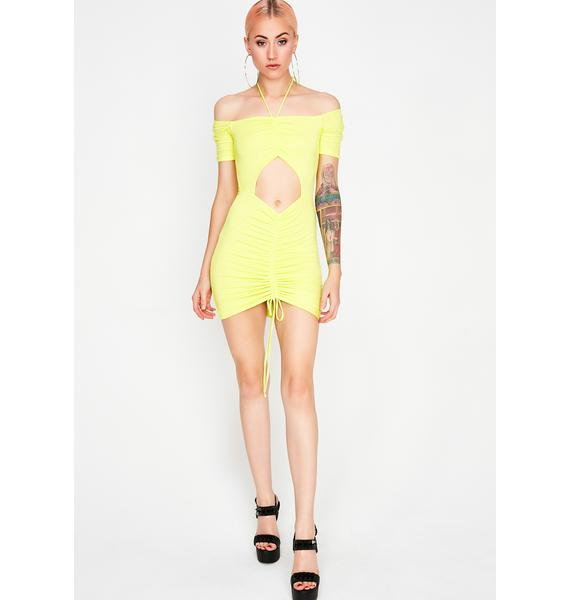 Sunny Dime Doll Ruched Dress
