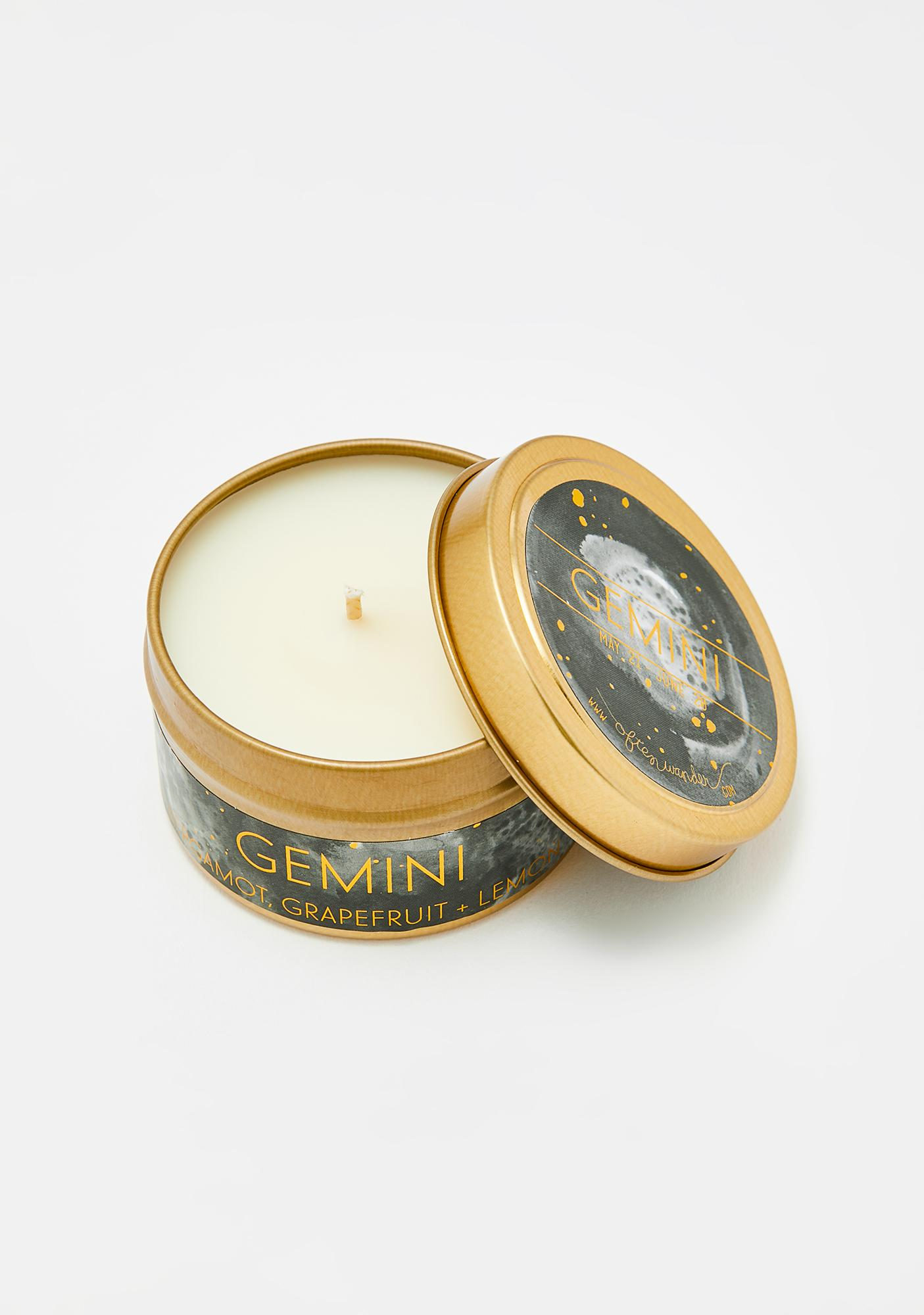 Often Wander Gemini Travel Tin Candle