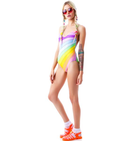 Wildfox Couture Vintage Rainbow Classic One PIece