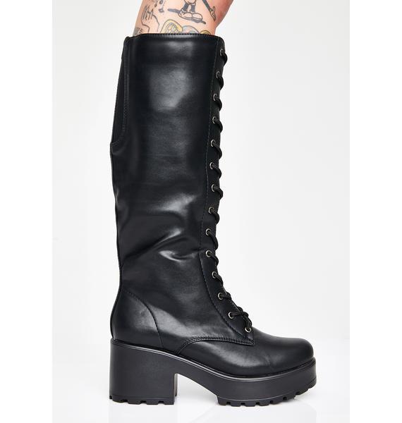 Koi Footwear Sektor Chunky Knee High Boots