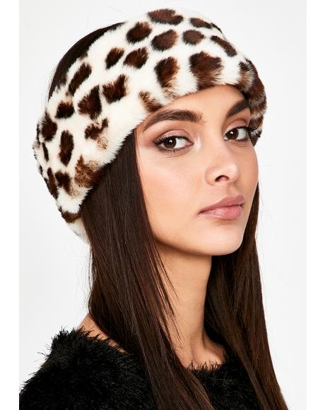 Icy Sights Set Faux Fur Headband