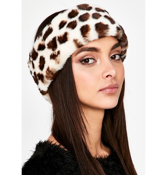 Icy Sights Set Faux Fur Headband