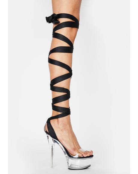 Lumpur Platform Wrap Heels