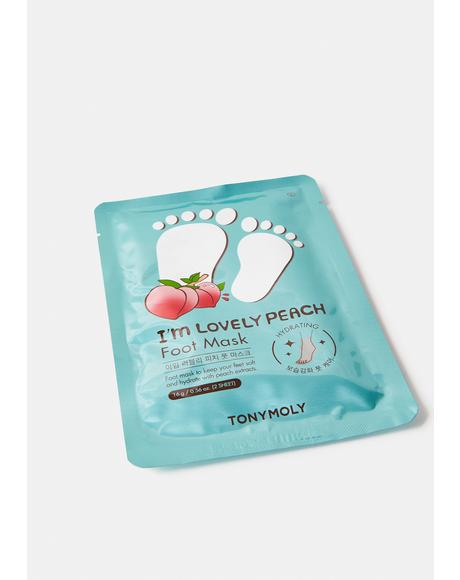 I'm Lovely Peach Foot Mask