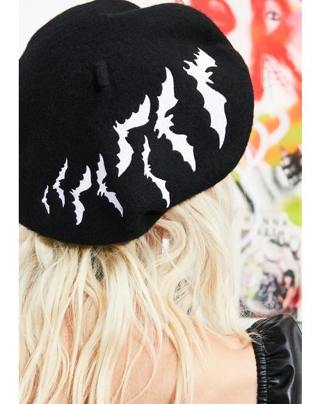 White Bat Repeat Beret