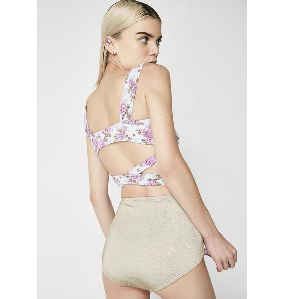 Margarita Mermaid Persephone Lace Up Bikini Bottoms