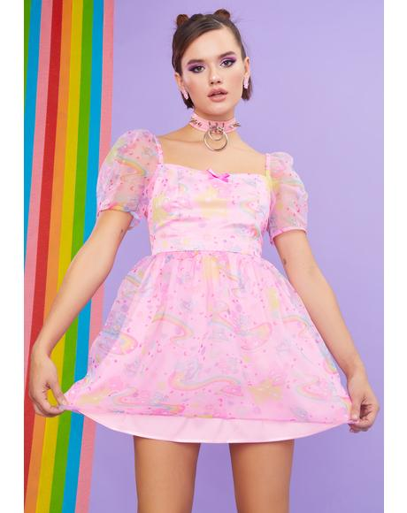 Prettiest Pal Organza Babydoll Dress