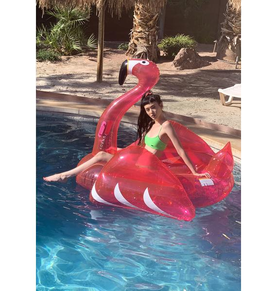 FUNBOY Glitter Pink Flamingo Pool Float