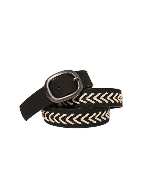 Dark Earthenware Woven Belt