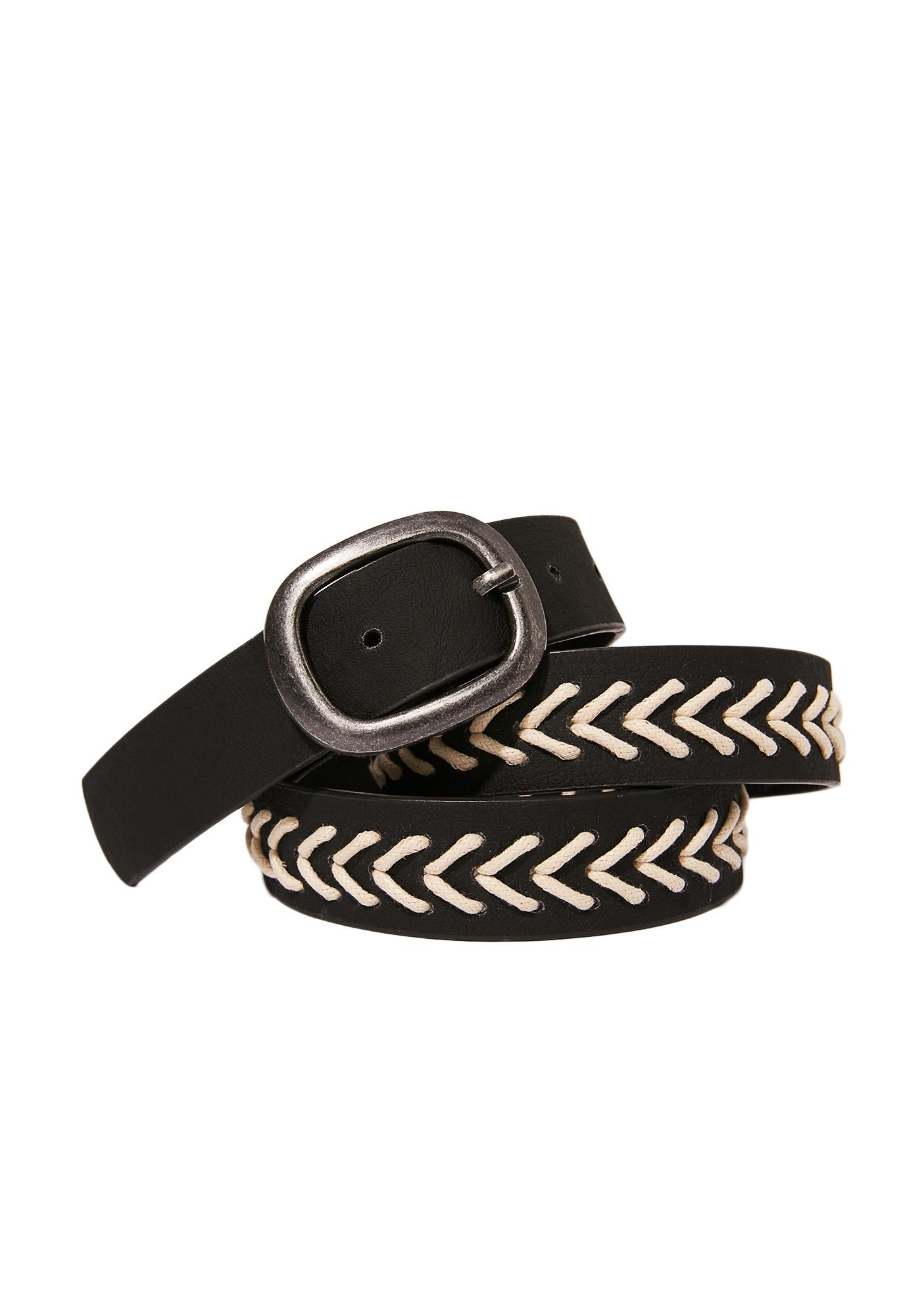 Dark Earthenware Woven Belt