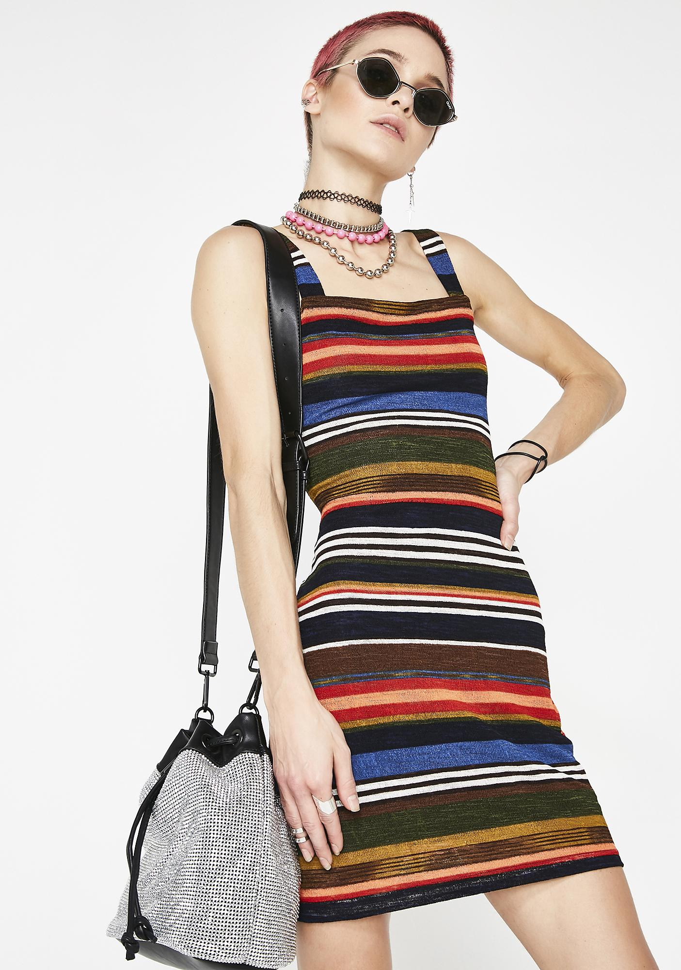 Anything Can Happen Stripe Dress
