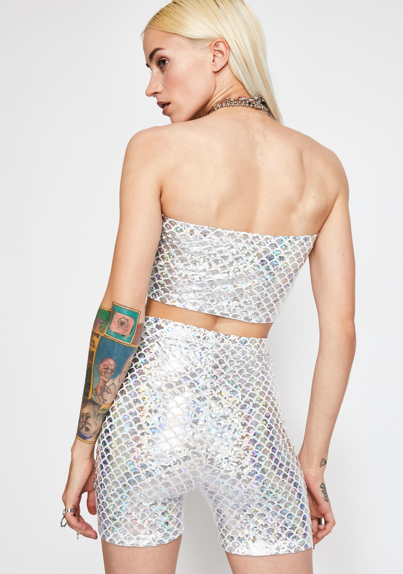 Rave Gal Holographic Mermaid Set