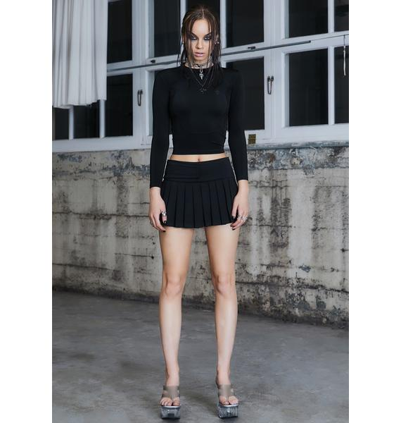 DARKER WAVS Kickdrum Pleated Mini Skirt