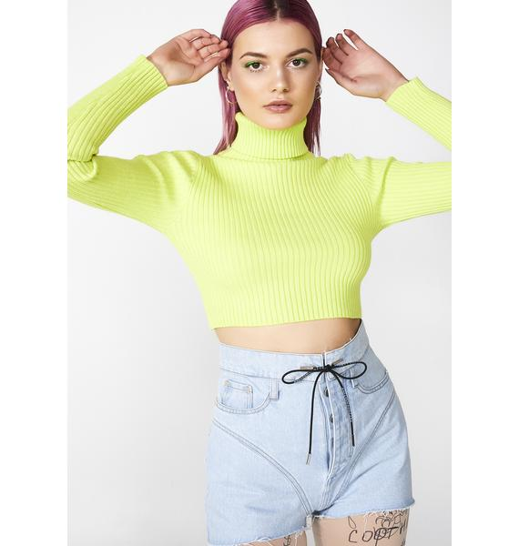 Biohazard Babe Basicz Cropped Sweater