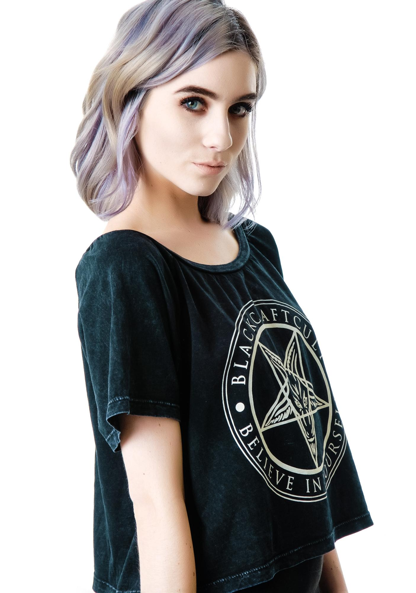 Blackcraft Believe In Yourself Crop Top