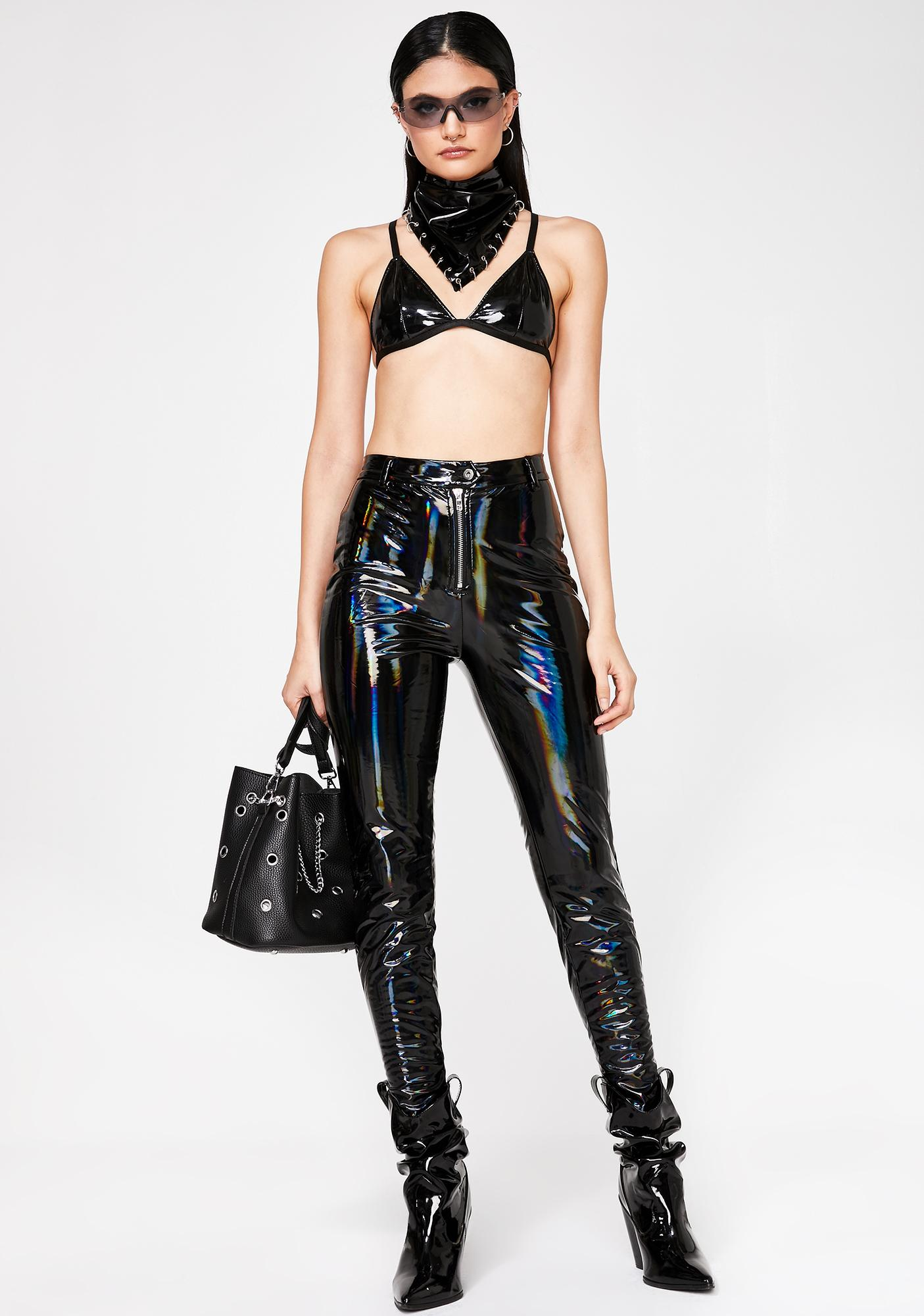 Space Riot Holographic Pants