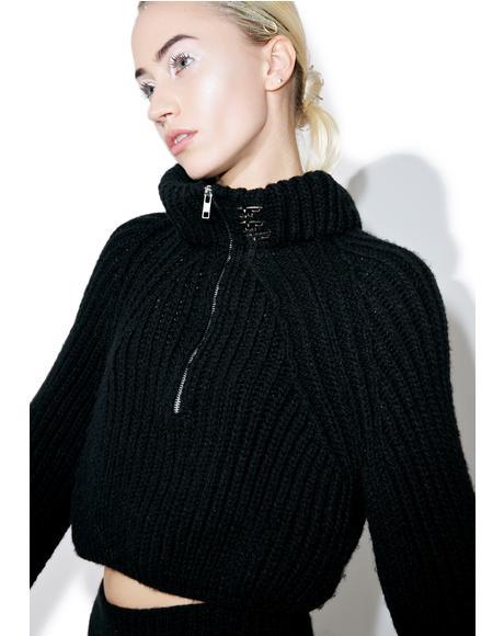 Noir Knit Top