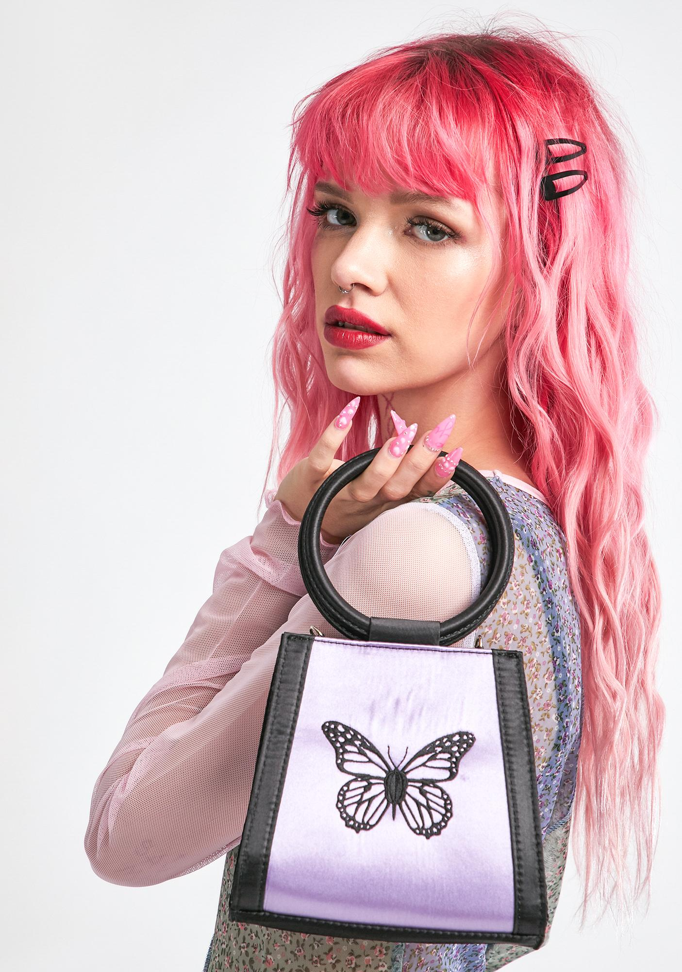 dELiA*s by Dolls Kill Flutterby Doll Structured Bag