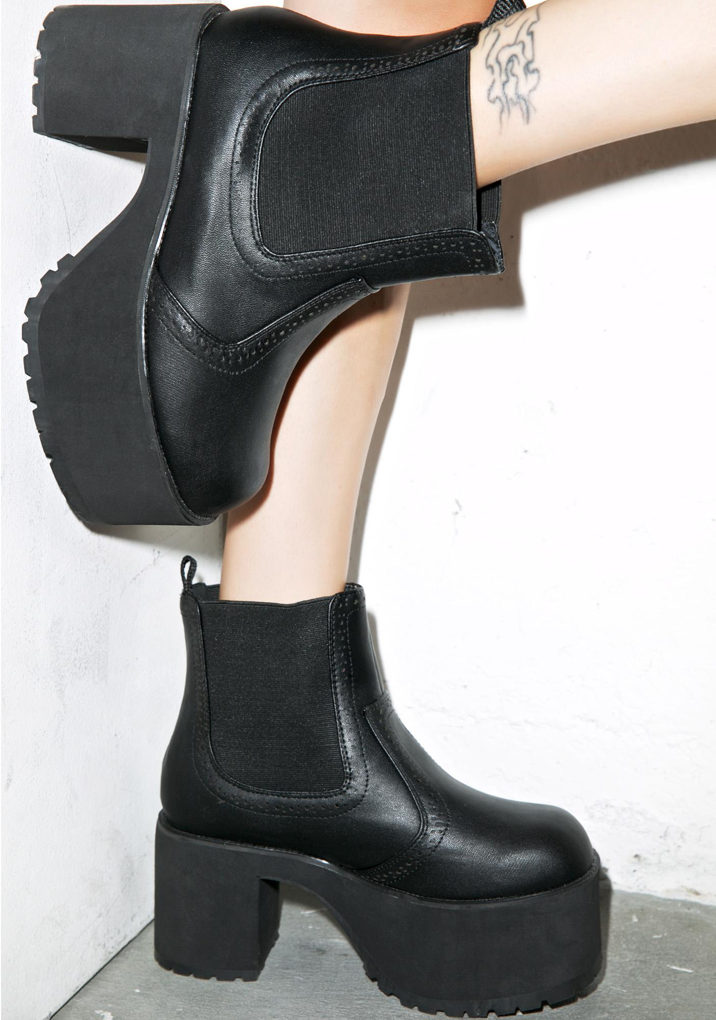 8a002776788 T.U.K. Chelsea Nosebleed Platform Boots