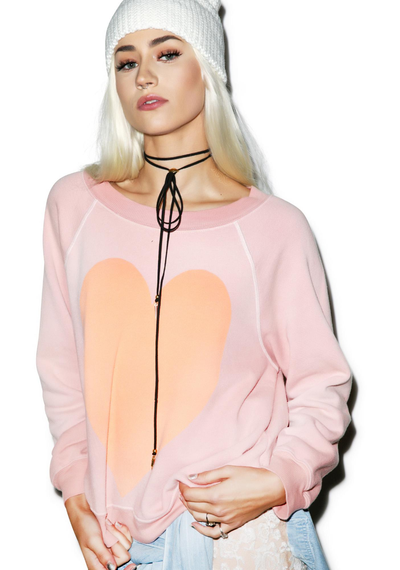 Wildfox Couture Heart Kim's Sweater