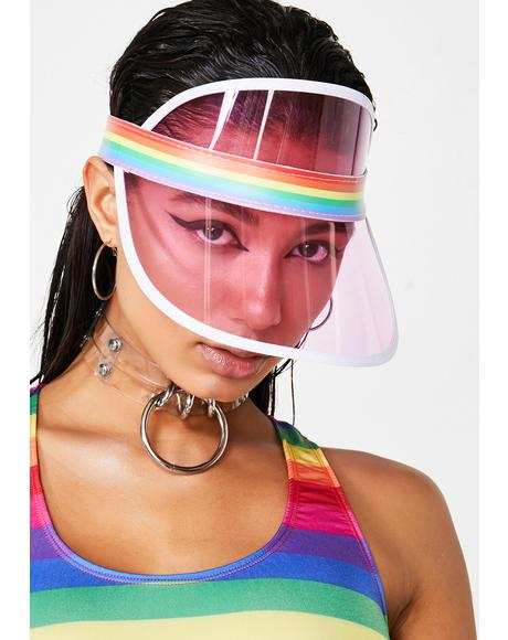 Rainbow Season Clear Visor