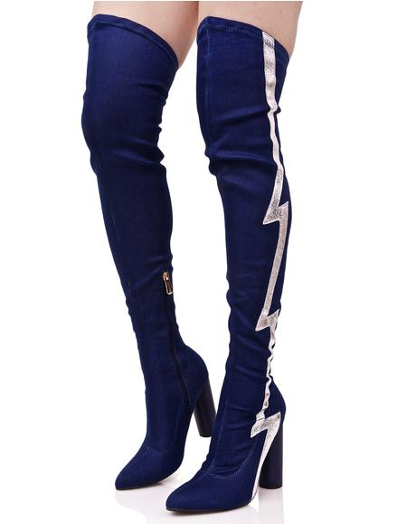 Thunderstrike Thigh-High Boots