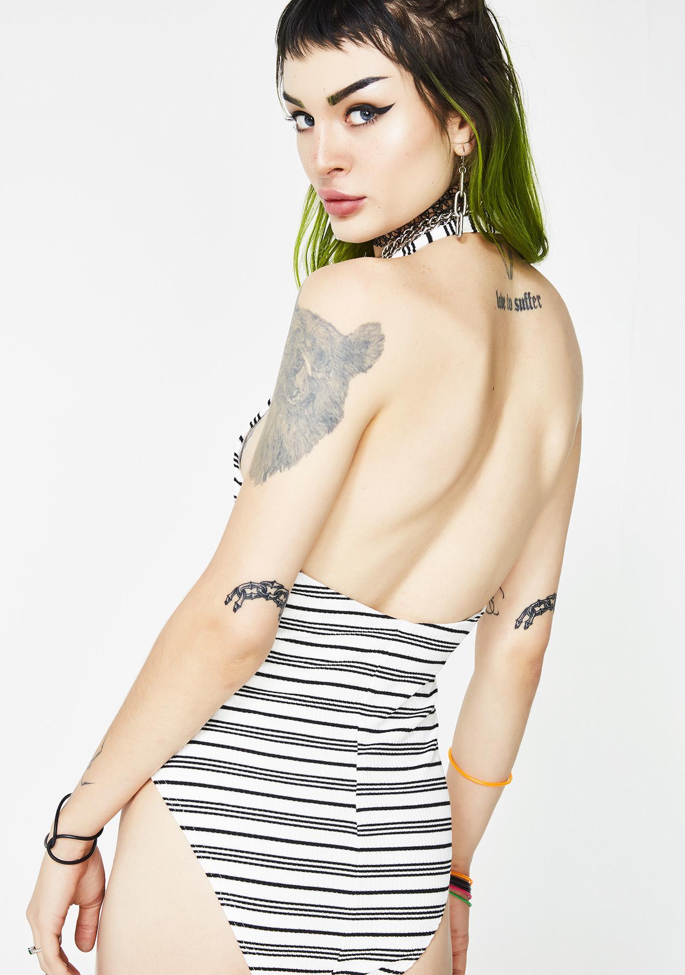 Strike Out Stripe Bodysuit