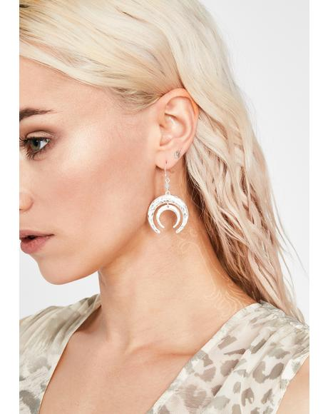 Baddie Bully Horn Earrings