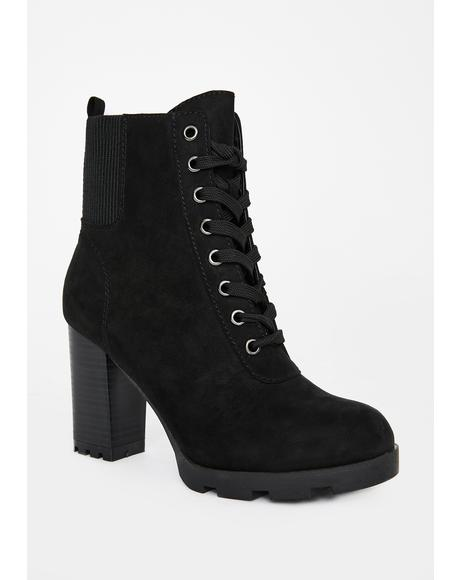 Night Stronger Than Before Heeled Booties