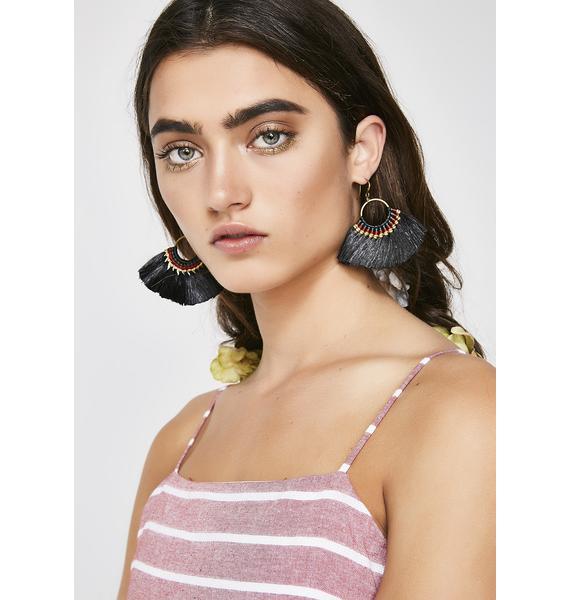 Lead The Pack Fringe Earrings