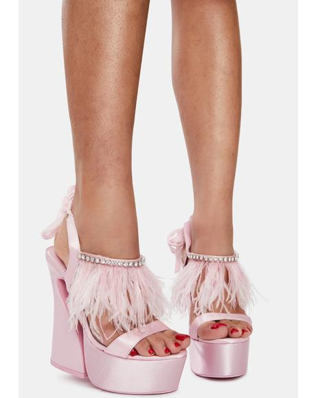 Turn Up The Glam Feather Heels