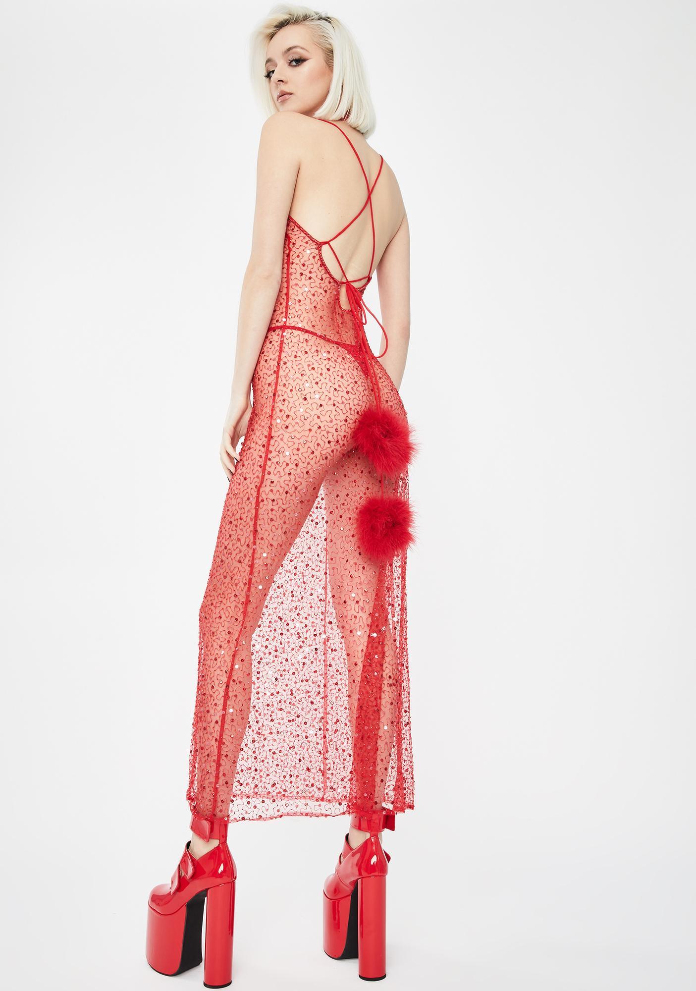 Dyspnea Red Viva La Cher Gown
