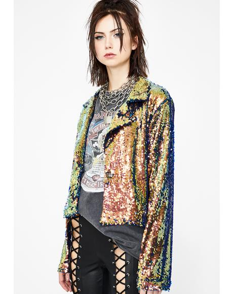 Cosmic Wonder Sequin Jacket