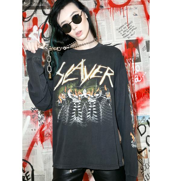 Vintage 90s Slayer Long Sleeve Tee