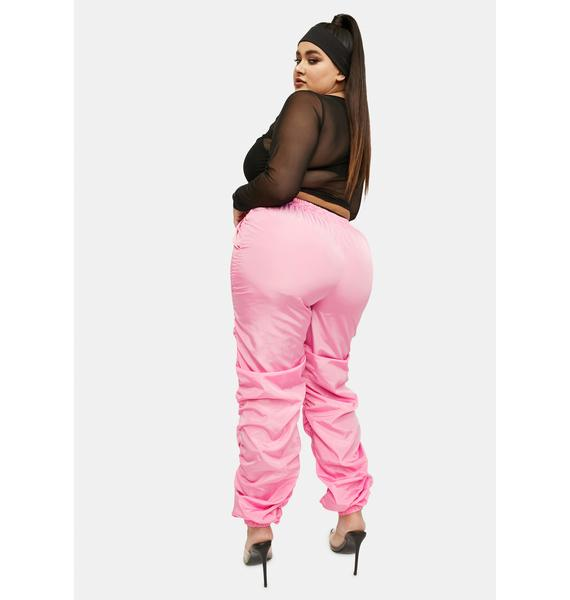 It's Over And Out Ruched Joggers