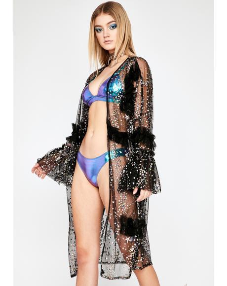 Celestial Boudoir Glitter Kimono
