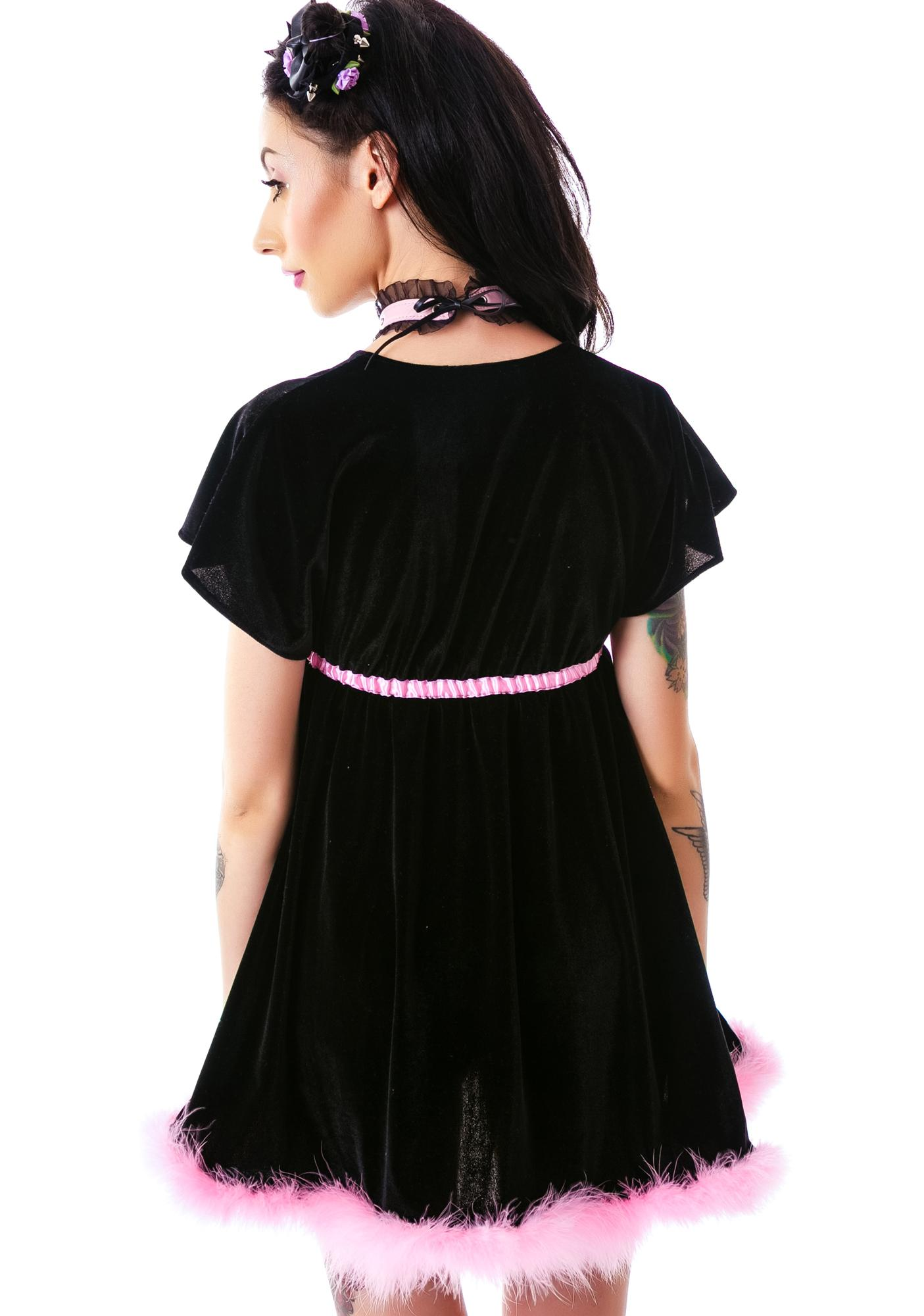 Stretch Velvet Empire Dress