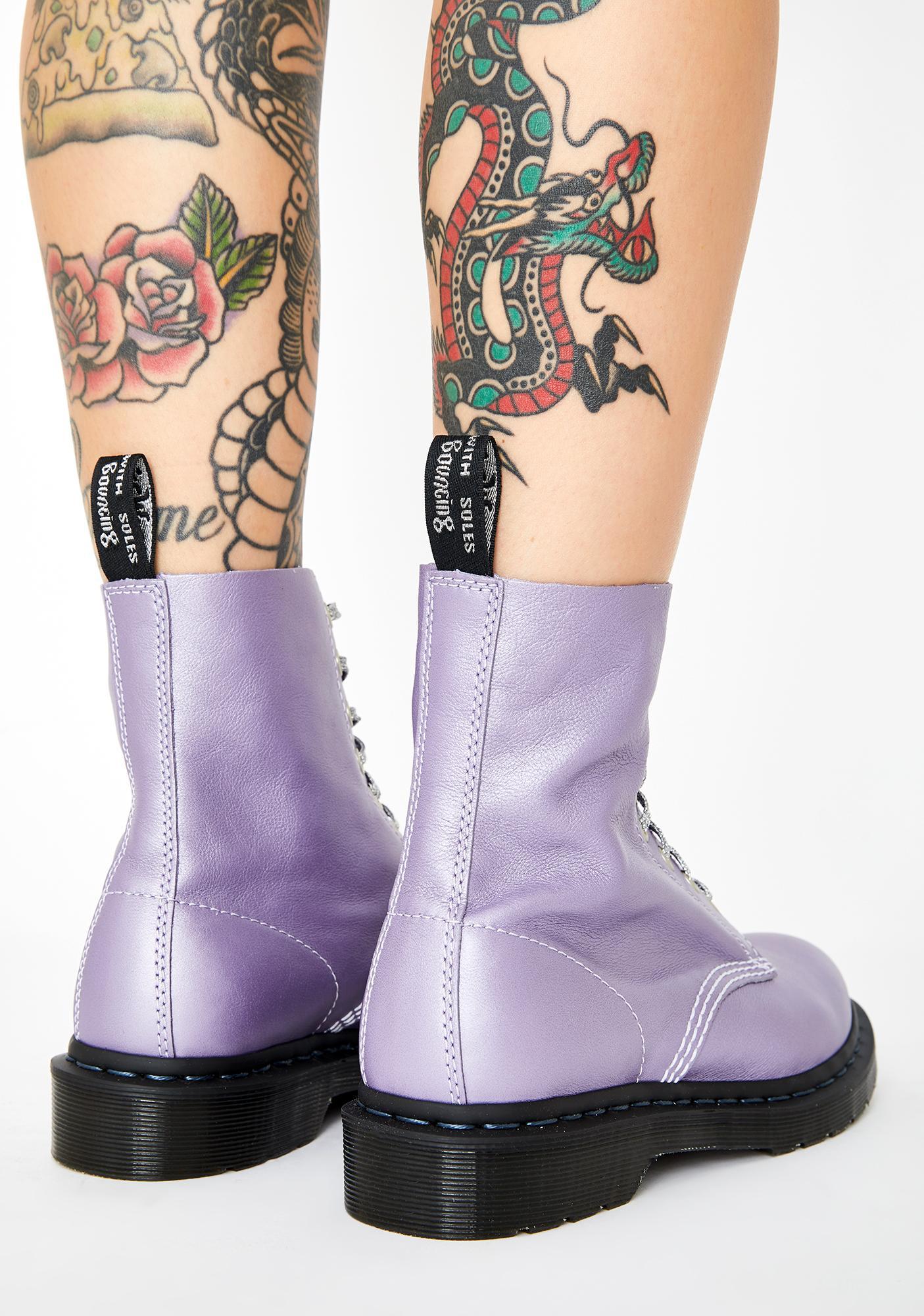 1460 Pascal Metallic Virginia Boots