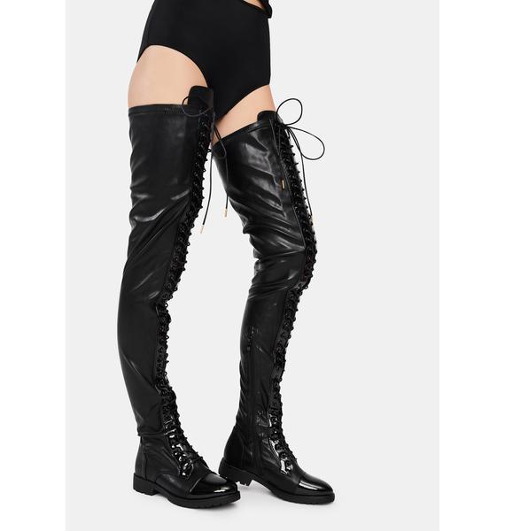 AZALEA WANG Retention Thigh High Boots